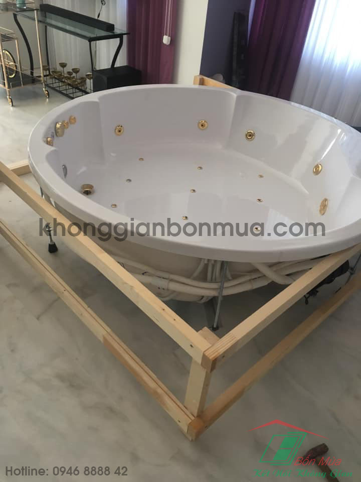 jacuzzi spa ốp gỗ thermo ash